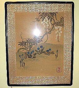 Japanese painting Rinpa Korin style 19th century