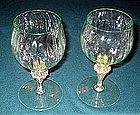 Lovely Venetian Murano wine glass pair