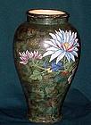 Japanese studio Tanzan Moriage style vase 13 in