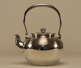 Japanese Silver Teapot Signed MIYAMOTO SHOKO