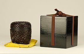 Japanese Tsuikoku Tea Caddy Natsume
