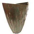 Japanese Bronze Flower Vase