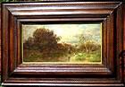 Impressionist Landscape Figures Ducks: Desire Thomassin