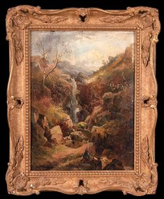 Waterfall with Figures: Frederick W Hattersley