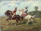 A Couple on Horseback: David Jacques Louis