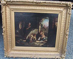 Family with Children & Kittens: Friedrich Meyerheim