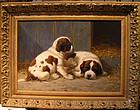 Puppy & Mother in Barn: Anton Karssen