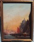 Venice Canal Scene: Felix Ziem