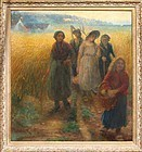 Gleaners at Sunset:  Jules Breton, Attrb