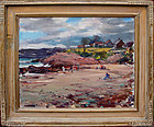 Low Tide at Cape Ann or Rockport: Carl William Peters