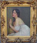 Portrait of Woman in White Gown 1901: Robert Vonnoh