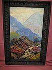 California Landscape with Mountains: Edgar A Payne