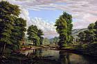 Expansive River Landscape: Levi Wells Prentice