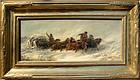 Horse Drawn Wagon in Storm: Adolf Schreyer