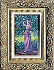 Woman in Garden: Joseph Lauber