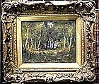 Forest Scene with Figures: Narcisse de la Pena Diaz