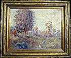 Figures in Impressionist Landscape: Cecil Chichester
