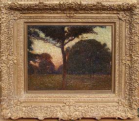 Impressionist Landscape at Dusk: Carl Moll