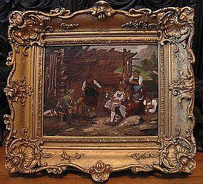Alpine Genre Scene with Peasants: Franz Von Defregger
