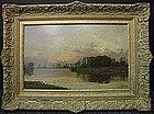 Sunset Landscape: Hippolyte Camille Delpy