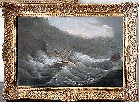 Ship in Gale: Charles Brooking