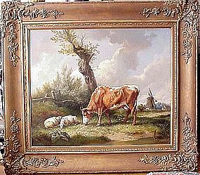 Pastoral with Cow & Sheep: Wilhelm Melchior
