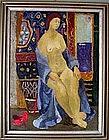 Lady in Matisse Interior: John Ulbricht
