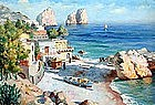 Capri Scene in Capoli: Nicholas Briganti