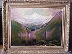Mt. Olympus from Lake Cushman: James Everett Stuart