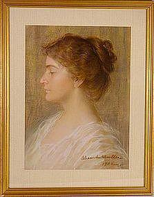 Portrait of Young Woman: Alexander Mueller (Muller)