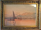 Nile Boats at Sunset: Augustus Osbourne Lamplough
