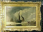 Ship on Beach with People: Richard Henry Nibbs