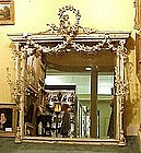 19th C Mirror with Cherubs from Baltimore