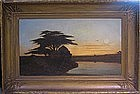 Orientalist Barbizon Landscape: Anatole H De Beaulieu