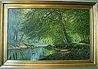 River Landscape with Path: August Jacobsen