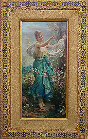 """Beautiful Girl in Springtime"": Hans Zatzka"