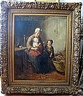 Seated Woman with 2 Daughters: Bernard De Hoog