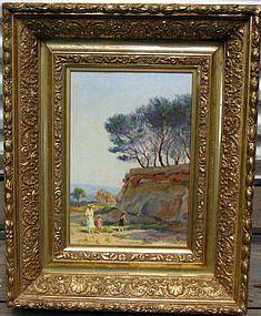 Figures in Rocky Landscape: Edouard Brun
