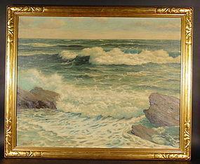 Impressionist Seascape: Edgar Lewis Bloomster