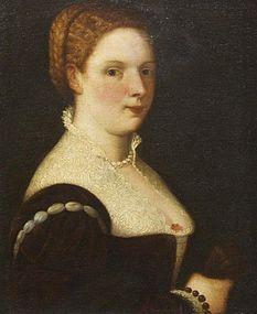 Portrait of Italian Woman: 17th C Italian School