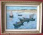 Rowboats in Harbor: Charles Beck