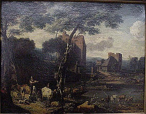 Landscape with Herders after Berchem