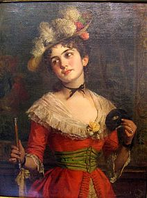 Woman in Red with Mask: Emil Brack