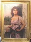 Pre Raphaelite Lady with Tamborine: Abbey Alston