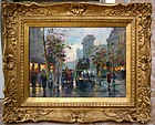 French Street Scene: Edouard Leon Cortes