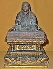 Antique Japanese Buddhist Kobo Wood Carving