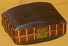 Antique Japanese Traveling Woven Bento Box
