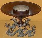 Antique Japanese Taisho Period Bronze Flower Vase