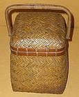 Antique Japanese Tea Ceremony Utensil Carrying Basket