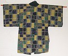 Antique Japanese Taisho Period Kasuri Hanten Coat